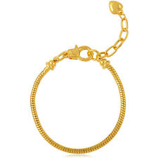 Wholesale Simple Snake Chain Charm Bead Bracelet Fit European Beads Gold&Silver