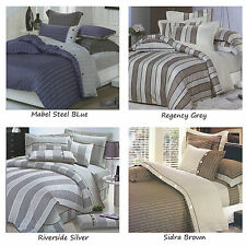 250TC Easy Care Quilt Doona Duvet Cover Set SINGLE DOUBLE QUEEN KING