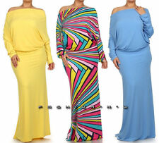 YELLOW BLUE PINK ON OFF SHOULDER OPEN BACK REVERSIBLE CONVERTIBLE MAXI DRESS