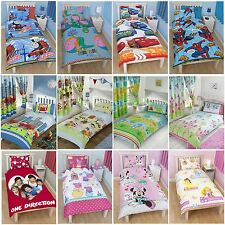 BOYS AND GIRLS DISNEY AND CHARACTER SINGLE DUVET COVER BEDDING SETS