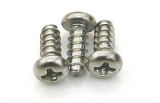 50pcs x 304 stainless steel Round Pan Head Self Tapping Pozi Screws M4