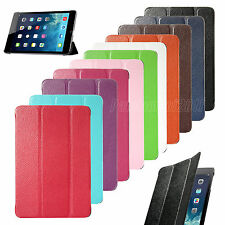 Slim Magnetic PU Leather Smart Cover For Apple iPad Mini Back Case Sleep/Wake