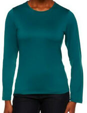 NEW SUSAN GRAVER Essentials BUTTERKNIT Long Sleeve T-Shirt
