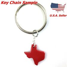 *Red/Black Resin TEXAS Pendant Bead ONE Large OR TWO small pick