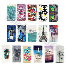 1×Elegant Patterned PU Leather Card Stand Rubber Case Cover For Mobile Phones#A1
