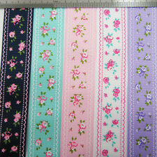 GROSGRAIN RIBBON 10/16/25/38mm *5 COLOURS* VINTAGE FLOWERS SHABBY CHIC WEDDING