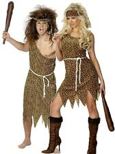 Ladies AND Mens Couples Crazy Caveman & Cavewoman Fancy Dress Costumes Outfits