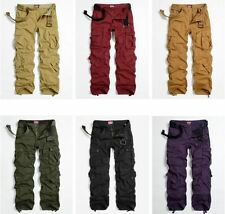 Fashion  Womens Military Army Green Cargo Pocket Pants Casual Outdoor Trousers #