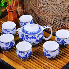 Landscape Scenery Porcelain Teapot Tea Chinese tea  Double Wall Tea Cup TP107