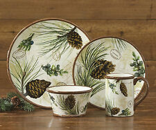 Walk in the Woods Dinnerware by Park Designs, Beautiful Forest Motif, Stoneware