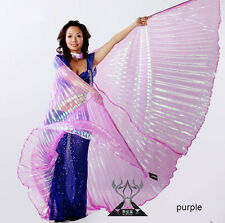 sheer Belly Dance isis wings(without sticks)performance belly dance wings 6color