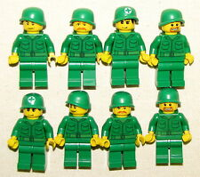 LEGO LOT OF 8 NEW ARMY MEN MINIFIGURES WORLD WAR 1 OR 2 MINIFIGS SOLDIERS