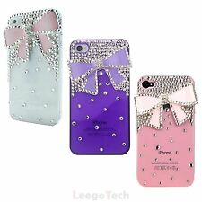 3D Bling Crystals Rhinestones Bow Hard Protector Case Cover for iPhone 4 4S1