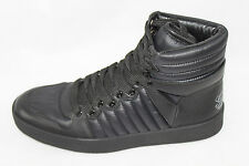 AUTH $540 Gucci Women Black Leather Hi Sneaker Shoes