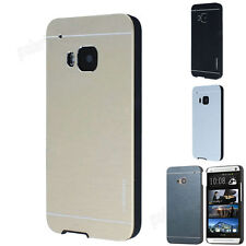 Luxury Motomo Metal Aluminum Brushed + PC Hard Case Cover For HTC ONE/Desire New