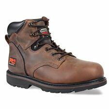 "Timberland Mens 6"" Pit Boss Steel Safety Toe Work Boots Gaucho Brown TB033034214"