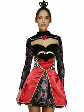 Ladies Fever Fairytale Fancy Dress Costume Sexy Queen of Hearts Princess Outfit