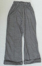 Vintage 1960s trousers boy girl School play Fancy dress costume Black and white