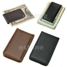 Hot Sale New Leather Magnetic Slim Pocket Money Clip Holder