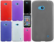 For Nokia Lumia 640 Frosted TPU CANDY Flexi Gel Skin Case Cover +Screen Guard