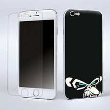 Black Animal Skin Film Sticker Cover Decal For Apple iPhone 6 W/Screen Protector