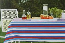 Blue Red White Fabric Tablecloth 60x84 Oblong NWT