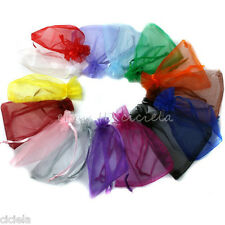 Lots 25/100X Organza Jewelry Packing Pouch Wedding Favor Gift Bags 9x7CM/18x13CM