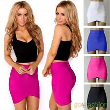 2015 Women's Sexy Mini Skirt Elastic Band Bandage Effect Push-up Skirt Color
