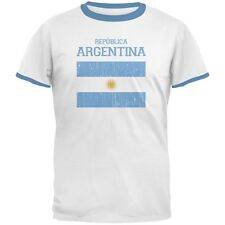 World Cup Distressed Flag Republica Argentina Men's Ringer T-Shirt