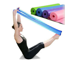 2M Yoga Pilates Rubber Stretch Resistance Exercise Fitness Band String Equipment