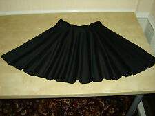 "BLACK Full Circle Dance Skirt, Made To Order, Hand Sewn By ""Perfectdi"" *NEW*"