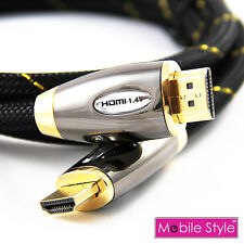 HDMI Cable v1.4a Gold Plated Connector Full HD 3D 1080p 0.5 To 20 Metre Lead UK
