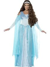 NEW Ladies Medieval Maiden / Queen, Blue Fancy Dress Costume Outfit