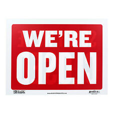 Bazic Small 9 x 12 Inches Open Sign with Closed Sign on Back Sign