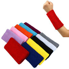 New Yoga Sweat Band Sweatband Wristband Cotton Arm Band Basketball Tennis Gym