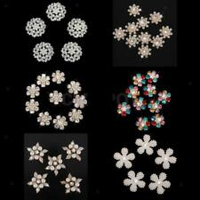 Assorted Rhinestone Flower Pearl Buttons Flatback Embellishment DIY Sewing Craft
