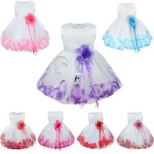 Girl Flower Petals Fancy Princess Pageant Party Wedding Easter Dress Up Birthday