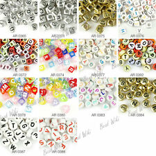 Mixed Alphabat Letter Acrylic Beads Spacer Loose Beads Jewellry Making Lots AR02
