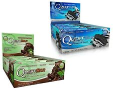 QUEST PROTEIN BARS 2-PACK Gluten Free Sugar Free 24 BARS - PICK FLAVORS