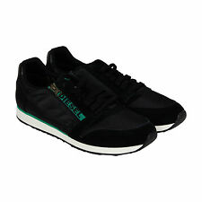 Diesel Slocker S Mens Black Suede & Nylon Lace Up Sneakers Shoes