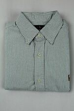 Ralph Lauren Green Striped Button Down Classic Fit Oxford Dress Shirt NWT