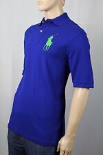 Ralph Lauren Royal Blue Classic Fit Big Green Pony Polo NWT