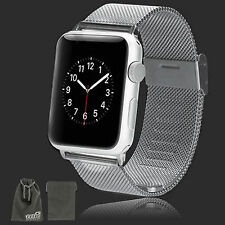 EEEKit for Apple Watch 38/42mm Replacement Mesh Stainless Steel Strap Wrist Band
