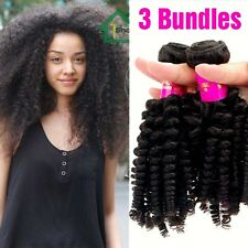 6A 3 Bundles Afro Kinky Curly Hair Weave Virgin Mongolian Human Hair Extensions