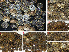 50/100pcs bronze Round Buttons 2/4 Holes 13mm Button Sewing Craft