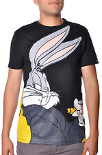 Looney Tunes AKA New Mens Cotton Casual Fit Bugs Bunny Profile Street Tee Shirt