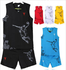 6734 New Kids Boy's Casual Sportswear Basketball sets Shirt Jersey +shorts Suits
