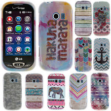 For Verizon LG Extravert 2 VN280 Anchor Snap On HARD Case Cover Accessory
