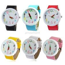 Cute Girls Cartoon big Number Dial Pencil Pointer Quartz Wrist Watch Fashion New