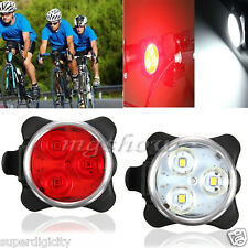 Bicycle Cycling Bike Head Front Rear Tail 3 LED light USB Rechargeable 4 modes